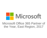 Managed Service Provider PTG receives the Microsoft 2017 East Region Office 365 Cloud Partner of the Year Award